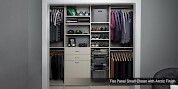Flat Panel Small Closet with Arctic Finish