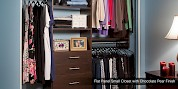 Flat Panel Small Closet with Chocolate Pear Finish