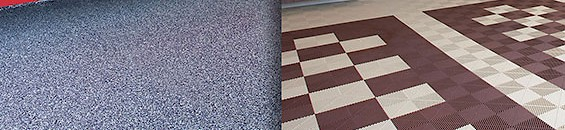 Epoxy vs Modular Garage Flooring
